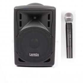 Lentus LNT-P-80 El 8 inch Akülü Taşınabilir Ses Sistemi 60/180 Watt