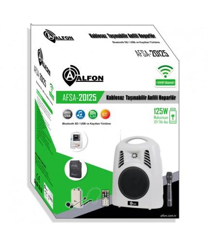 Alfon AFSA-20125 125W VHF Kablosuz Taşınabilir Anfili Hoparlör