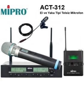 Mipro ACT 312 EL Ve Yaka Telsiz Mikrofon